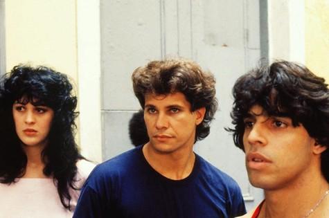 Claudia Raia, Edson Celulari e Alexandre Frota em 'Sassaricando',  de 1987 (Foto: TV Globo)
