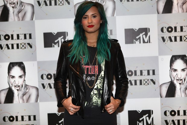 Demi Lovato em SP (Foto: Iwi Onodera/EGO)