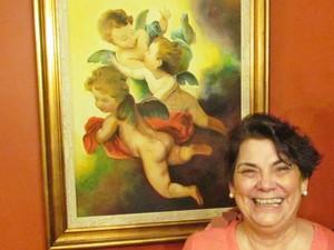 Maria de Oliveira tem quadros vendidos no Brasil e no exterior. (Foto: Divulgação)