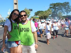 Estudante Tayná Santana ajudou na organização do evento (Foto: Gustavo Almeida/G1)