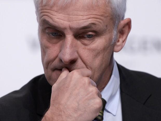 Atual CEO da Volkswagen, Matthias Müller, fala sobre escândalo (Foto: REUTERS/Nigel Treblin)