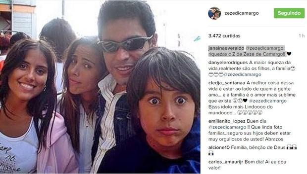 Zezé di Camargo escorrega no português e é corrigido por internautas (Foto: Reprodução / Instagram)