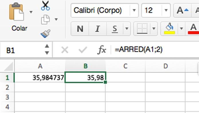 Fórmula para arredondar valores (Foto: Reprodução/André Sugai)
