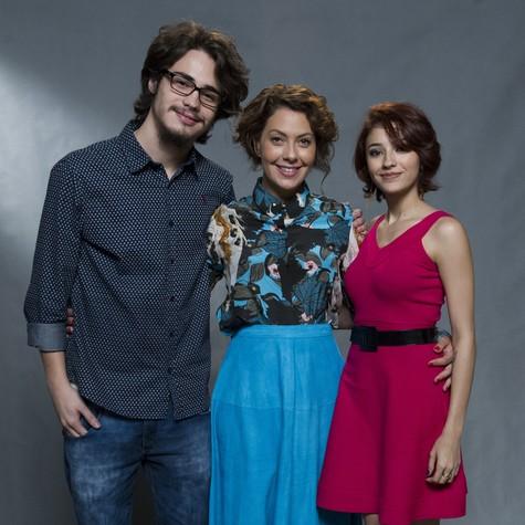Danilo Mesquita, Fabíula Nascimento e Carolina Oliveira (Foto: Estevam Avellar/TV globo)