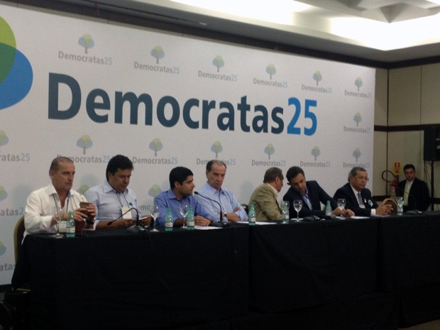 Convenção nacional do DEM confirmou apoio à candidatura de Aécio Neves à Presidência (Foto: Priscilla Mendes / G1)