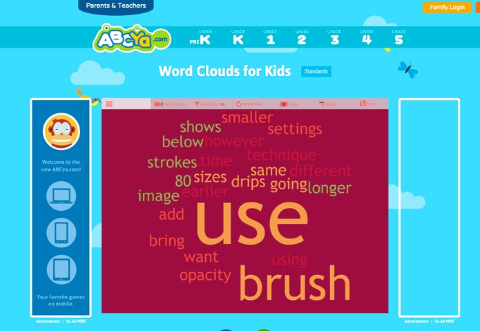Word Cloud for Kids - solução simples e fácil de utilizar (Foto: Reprodução/André Sugai)