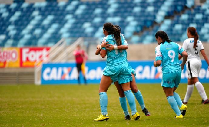 Foz Cataratas vence o Mixto (MT) por 2 a 1 em jogo na Arena Pantanal, em Cuiabá (Foto: Rogerio Florentino Pereira / Allsports / Divulgação)