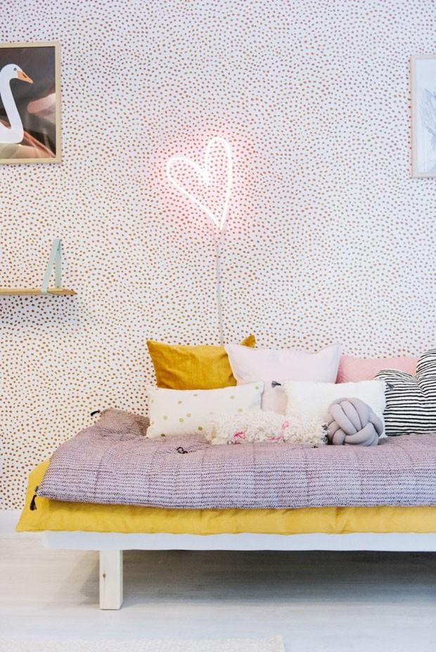 Décor do dia quarto romântico para uma jovem menina (Foto: Divulgação)
