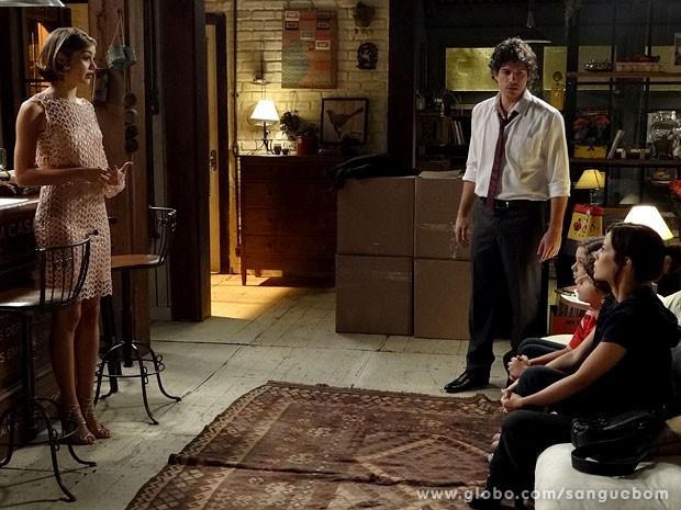 It-girl diz que irmã e sobrinhos vão morar com ela e Bento (Foto: Sangue Bom / TV Globo)