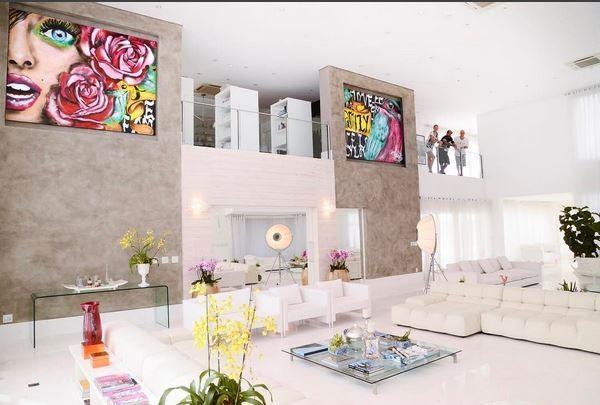 Sala da Ana Hickmann  (Foto: reprodução/instagram)