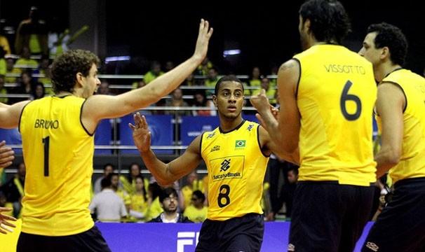 Seleção brasileira já está classificada para a próxima fase do Mundial (Foto: FIVB / Reprodução: Globoesporte.com)