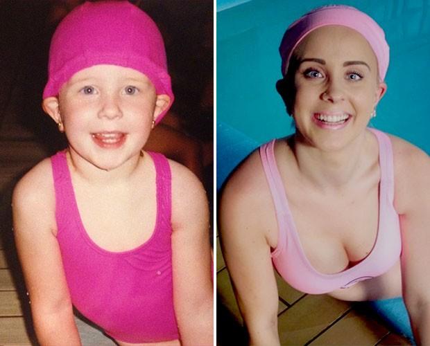 Antes e depois: os olhos de Priscila Brenner são os mesmos (Foto: Divulgação)