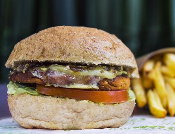 Origem Burger, sanduíche vegetariano criado para especialmente para o Festival Origem (Foto: Divulgação)