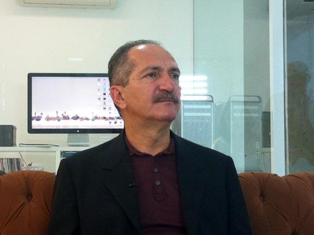 Ministro do Esporte, Aldo Rebelo, está em reunião para participar de uma reunião de trabalho da Copa do Mundo (Foto: Jomar Freitas/G1)