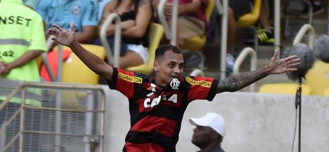 Gol Alan Patrick Flamengo x Santos Maracanã (Foto: André Durão)