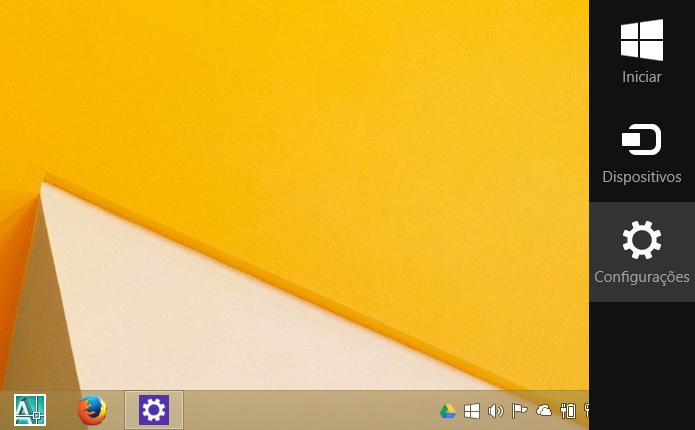 Acessando as configurações do Windows 8.1 (Foto: Reprodução/Helito Bijora)