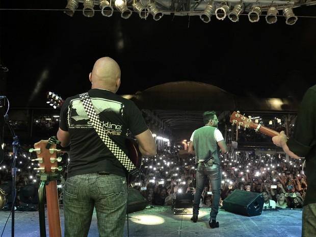 Pablo em show no Rio (Foto: Roberto Teixeira/ EGO)