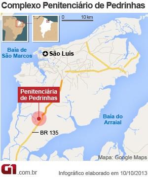 mapa_presidio_pedrinhas (Foto: Editoria de Arte / G1)