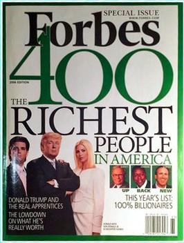 Forbes de 2006 com Donald Trump (Foto: Reprodução)