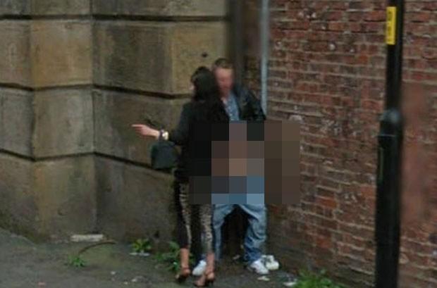 Google Street View flagrou casal realizado ato sexual (Foto: Reprodução)