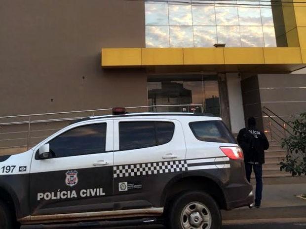 Um dos locais de buscas é o prédio do Soy Group, localizado na Avenida do CPA (Foto: Assessoria/Polícia Civil de MT)