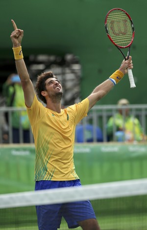 Thomaz Bellucci tênis olimpíada rio 2016 (Foto: REUTERS/Kevin Lamarque)