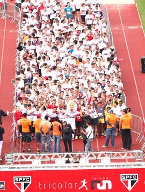 torcedores São Paulinos correm a Tricolor Run (Foto: Divulgação)