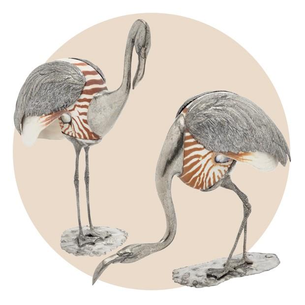 O par de flamingos de prata (Foto: Jacques Pépion, Harcourt e Divulgação)