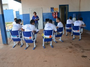 Presos do regime fechado fazem curso pelo Pronatec em Cacoal, RO (Foto: Magda Oliveira/G1)