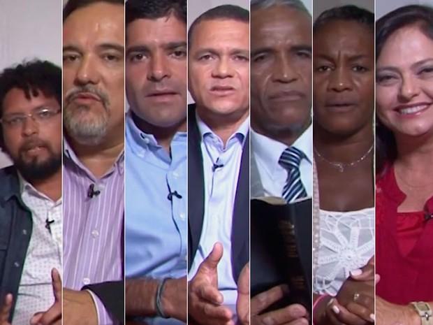 Candidatos a prefeito de Salvador foram entrevistados pelo G1 (Foto: Montagem / G1)