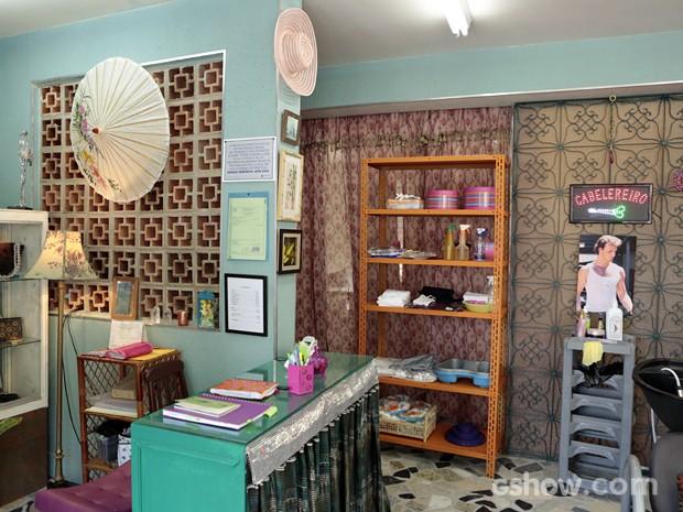 Esse é o salão do travesti Xana Summer  (Foto: Felipe Monteiro/TV Globo)