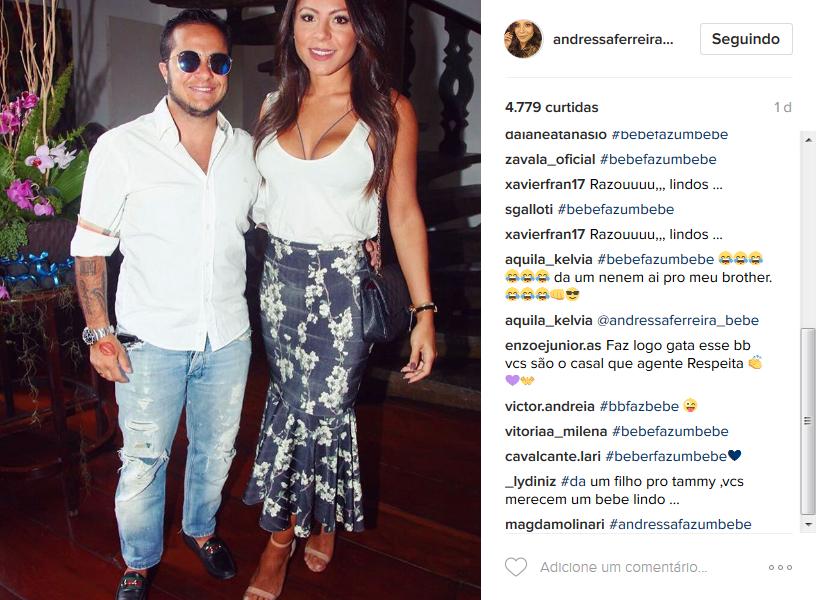 Seguidores aderem a hashtag #BebêFazUmBebê (Foto: Reprodução/Instagram)