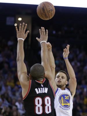 Stephen Curry Warriors x Blazers NBA - AP (Foto: AP)