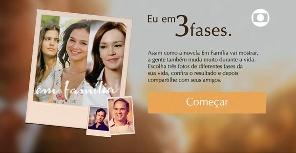 Clique na imagem acima e entre na brincadeira Eu em 3 Fases - Em Família (Foto: Globo)