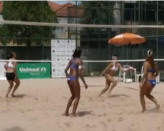 Resende recebeu final do Circuito Rio Sul de Vôlei de Areia Feminino (Foto: Reprodução RJTV 2ª Edição)