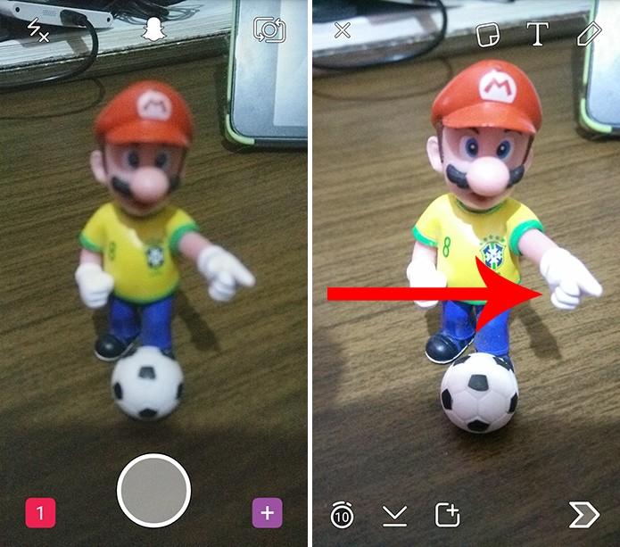 Snapchat possui jeito simples e rápido de para adicionar mais de um filtro (Foto: Reprodução/Elson de Souza)