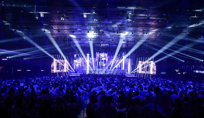 Três noites lotadas e um cenário surpreendente na gravação do DVD de Bruno & Marrone e Chitãozinho & Xororó  (Foto: Léo Franco/Divulgação)