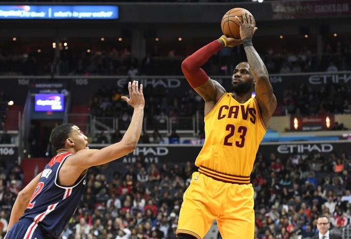 LeBron James Washington Wizards vs. Cleveland Cavaliers NBA (Foto: Reuters)