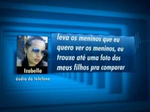 Izabella revela a uma amiga que marcou um encontro com o pai das crianças (Foto: Reprodução/EPTV)