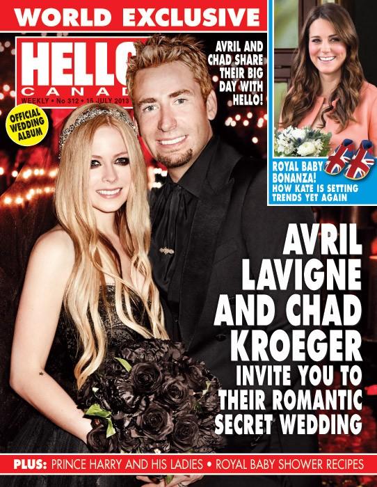 Avril Lavigne na capa da 'Hello' (Foto: Reprodução/Hello)