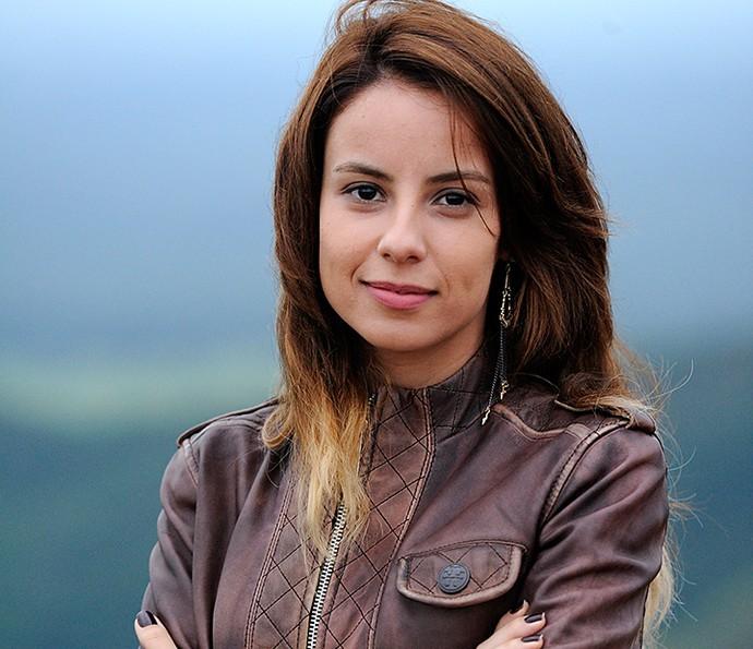 Em 'A Teia', Andreia Horta usava cabelos longos e claros (Foto: Estevam Avellar/Globo)
