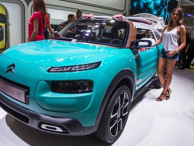 Citroën Cactus M, a versão conversível do C4 Cactus (Foto: Odd Andersen/AFP)