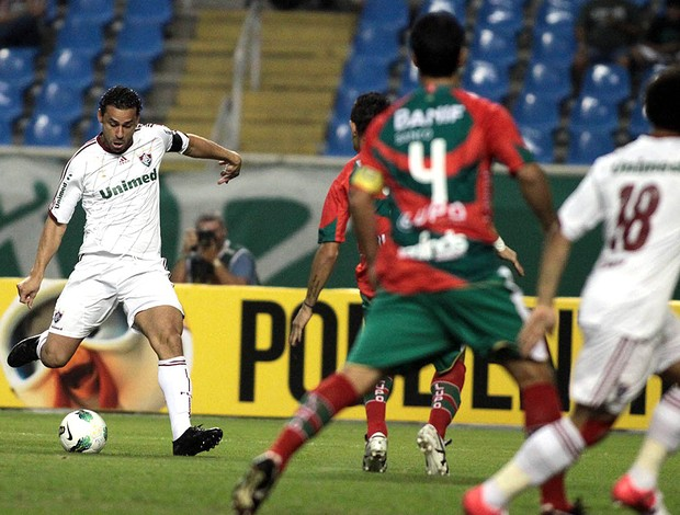 Fred, Fluminense x Portuguesa (Foto: Ralff Santos / Photocamera)