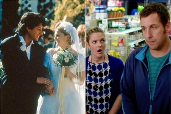Drew Barrymore e Adam Sandler estream nesse ano 'Juntos e Misturados' o terceiro filme em que aparecem como casal, mantendo a parceria de 'Afinado no Amor' (1998) e 'Como se Fosse a Primeira Vez' (2004)  (Foto: Divulgação)