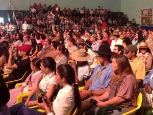 Público assistiu de perto a gravação do programa na serra catarinense (Foto: Gino Basso/ RBS TV)