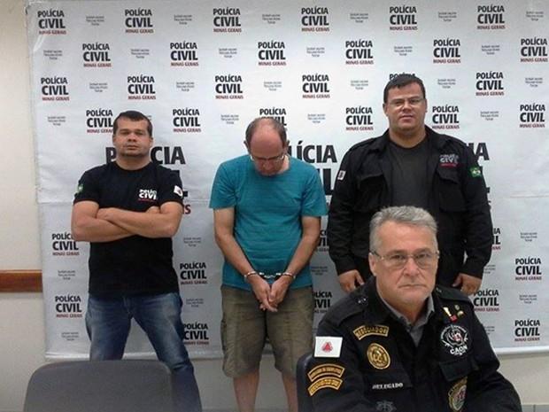 Prisão Levi Cançado pedofilia Uberaba Igarapava Polícia Civil (Foto: Polícia Civil de Uberaba/ Divulgação)