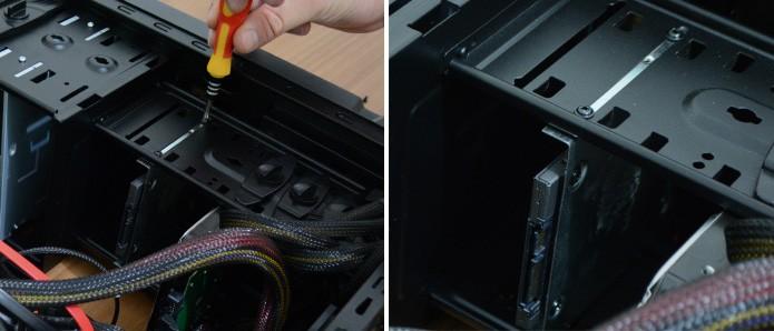 Encaixe o SSD no local apropriado dentro do gabinete (Foto: Reprodução/Adriano Hamaguchi)