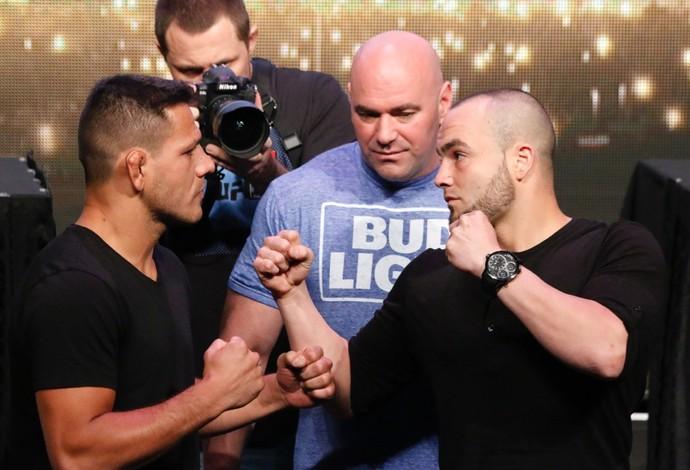 Encarada Rafael dos Anjos Eddie Alvarez UFC 200 (Foto: Evelyn Rodrigues)