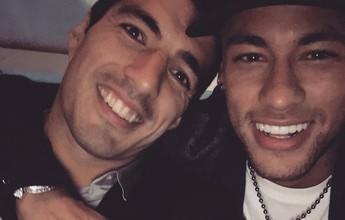Elenco do Barça se reúne em jantar para comemorar prêmio de Suárez