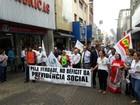 Manifestação contra reforma da Previdência é realizada em Uberaba